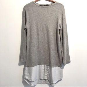 NWT Zara Long Sleeve Shirt Dress